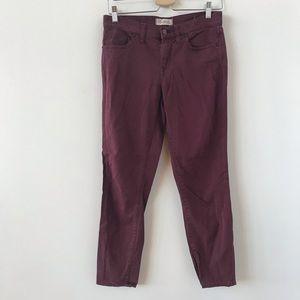 Madewell Skinny Skinny burgundy pants